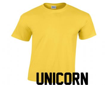 Unicorn House Yellow t-shirt